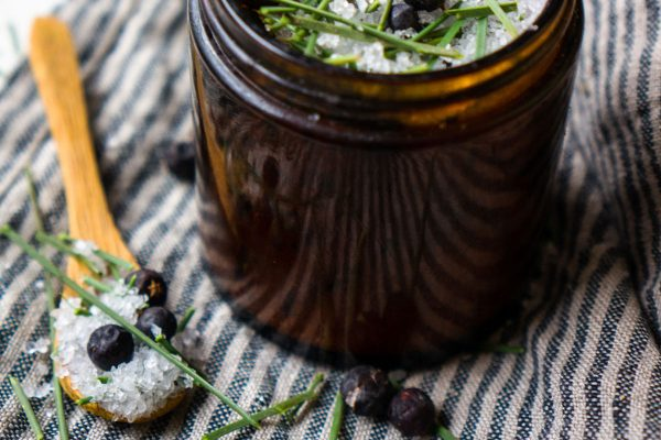 Evergreen Forest Bath Salts Recipe with Juniper and Pine